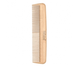 Fine-tooth comb made in beech wood